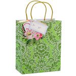 Anna Griffin - Gift Bags - Green Damask