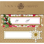 Anna Griffin - Christmas - 3 Dimensional Gift Labels - Kraft