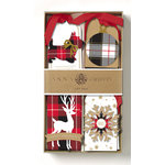 Anna Griffin - Christmas - 3 Dimensional Gift Tags - Plaid
