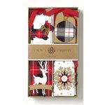 Anna Griffin - Christmas - 3 Dimensional Gift Tags - Plaid