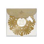 Anna Griffin - Christmas - Gift Tags - Gold Snowflake