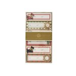 Anna Griffin - Christmas - 3 Dimensional Gift Stickers - Plaid
