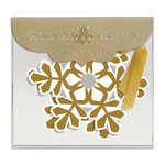 Anna Griffin - Christmas - Tags - Gold Snowflake with Foil Accents