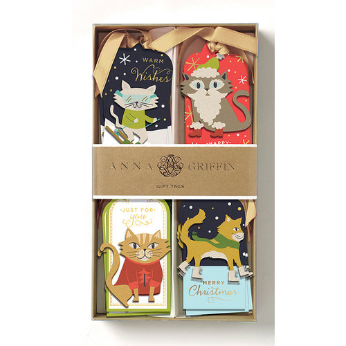 Anna Griffin - Tags - Cats 3D Gift Tags with Glitter Accents