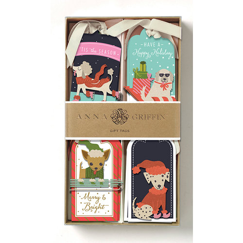 Anna Griffin - Tags - Dogs 3D Gift Tags with Glitter Accents