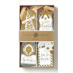 Anna Griffin - Christmas - Tags - Silver and Gold 3D Gift Tags with Foil Accents