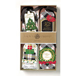 Anna Griffin - Christmas - Tags - Plaid 3D Gift Tags with Foil Accents