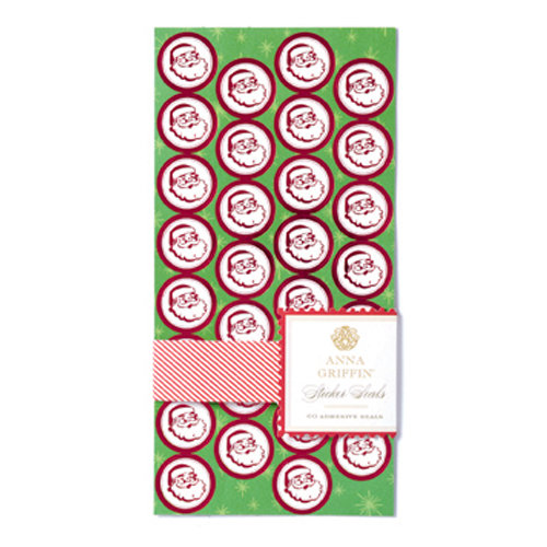 Anna Griffin - Twinkle Bright Collection - Christmas - Sticker Seals with Foil Accents