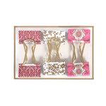 Anna Griffin - Binder Clips - Pink Foil