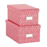 Anna Griffin - Pink Collection - Nesting Boxes with Gold Foil - Set of Two