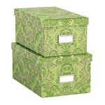 Anna Griffin - Green Collection - Nesting Boxes with Gold Foil - Set of Two