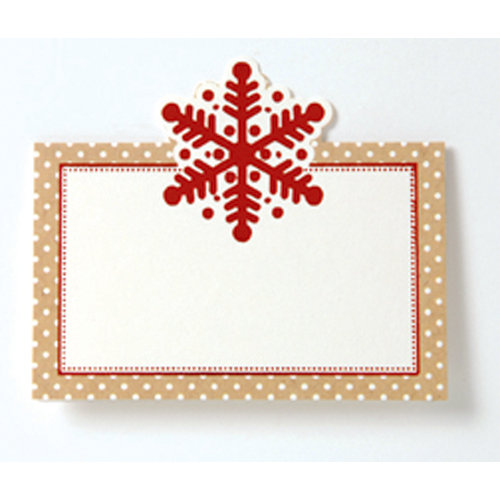 Anna Griffin - Christmas Kraft Collection - Place Cards with Foil Accents