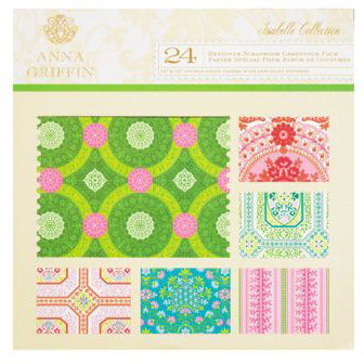 Anna Griffin - Isabelle Collection - 12 x 12 Glittered Cardstock Pack
