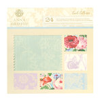 Anna Griffin - Cecile Collection - 12 x 12 Double Sided Flocked Cardstock Pack