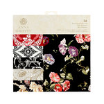Anna Griffin - 12 x 12 Paper Pad - Black Floral