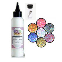 Art Institute Glitter - Art Glitter - Basic Kit with Glitter Glue and Six Colors - Daydreams, CLEARANCE