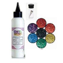 Art Institute Glitter - Art Glitter - Basic Kit with Glitter Glue and Six Colors - Rainbow, CLEARANCE