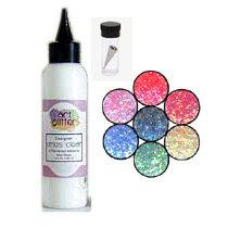 Art Institute Glitter - Art Glitter - Basic Kit with Glitter Glue and Six Colors - Rio