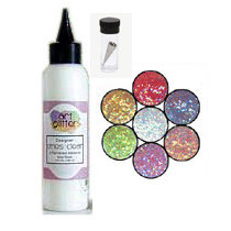 Art Institute Glitter - Art Glitter - Basic Kit with Glitter Glue and Six Colors - Young At Heart