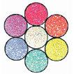 Art Institute Glitter - Art Glitter - Pee Wee Kit with Seven Colors - Reggae