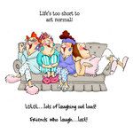 Art Impressions - Girlfriends Collection - Unmounted Rubber Stamp Set - Comfy on the Couch