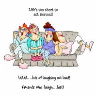Art Impressions - Girlfriends Collection - Clear Photopolymer Stamps - Comfy on the Couch