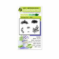 Art Impressions - Watercolor Collection - Unmounted Rubber Stamp Set - Foliage Set 1