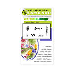Art Impressions - Watercolor Collection - Unmounted Rubber Stamp Set - Flower Set