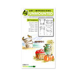 Art Impressions - Watercolor Collection - Unmounted Rubber Stamp Set - Containers