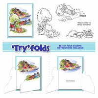 Art Impressions - Tryfolds Collection - Unmounted Rubber Stamp Set - Lakehouse