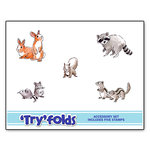 Art Impressions - Tryfolds Collection - Unmounted Rubber Stamp Set - Furries