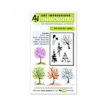 Art Impressions - Watercolor Collection - Unmounted Rubber Stamp Set - Tree Set