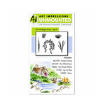 Art Impressions - Watercolor Collection - Unmounted Rubber Stamp Set - Foliage Set 2