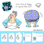 Art Impressions - Shake Your Booty Collection - Unmounted Rubber Stamp Set - Bloomer