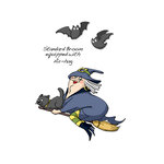 Art Impressions - Halloween Collection - Unmounted Rubber Stamp Set - Air Hag