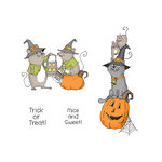 Art Impressions - Halloween Collection - Unmounted Rubber Stamp Set - Mice and Sweet