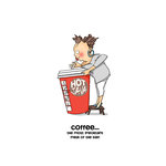 Art Impressions - People Collection - Unmounted Rubber Stamp Set - Cathy Caffeine