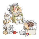 Art Impressions - Tryfolds Collection - Unmounted Rubber Stamp Set - Cat Lady