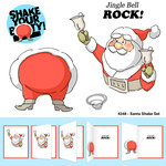 Art Impressions - Shake Your Booty Collection - Christmas - Unmounted Rubber Stamp Set - Santa Shake