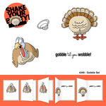 Art Impressions - Shake Your Booty Collection - Unmounted Rubber Stamp Set - Gobble