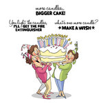 Art Impressions - Girlfriends Collection - Unmounted Rubber Stamp Set - Giant Cake