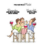 Art Impressions - Girlfriends Collection - Unmounted Rubber Stamp Set - Wine Tasters