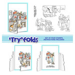 Art Impressions - Tryfolds Collection - Unmounted Rubber Stamp Set - Messy House