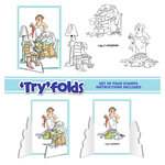 Art Impressions - Tryfolds Collection - Unmounted Rubber Stamp Set - Floordrobe
