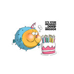 Art Impressions - Zoo Crew Collection - Unmounted Rubber Stamp Set - Deep Breath Birthday