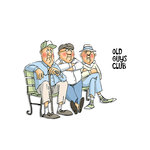 Art Impressions - People Collection - Unmounted Rubber Stamp Set - Old Guys Club