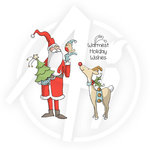Art Impressions - Christmas Collection - Unmounted Rubber Stamp Set - Holiday Wishes