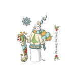 Art Impressions - Christmas Collection - Unmounted Rubber Stamp Set - Seasons Greetings