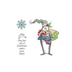 Art Impressions - Christmas Collection - Unmounted Rubber Stamp Set - Warm Your Heart