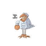 Art Impressions - Halloween Collection - Unmounted Rubber Stamp Set - Tweeter